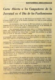 thumbnail of 1972. Carta Abierta de Montoneros y Descamisados