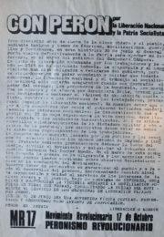 thumbnail of 1973 junio. Con Peron por la liberacion nacional y la patria socialista