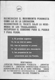 thumbnail of 1974 Reencauzar el Movimiento Peronista