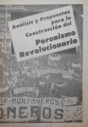 thumbnail of 1985. Analisis y propuestas para la construccion del peronismo revolucionario