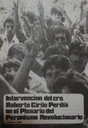 thumbnail of 1986 febrero. Plenario del Peronismo Revolucionario