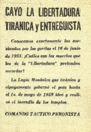 thumbnail of Comando Tactico Peronista. Cayo la Libertadura