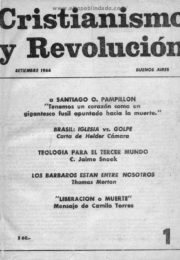 thumbnail of Cristianismo y Revolucion n 01
