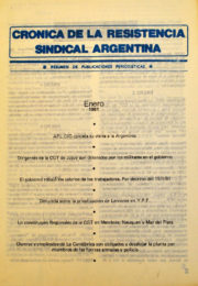 thumbnail of Cronica Resistencia Sindical 1981 enero. Mexico