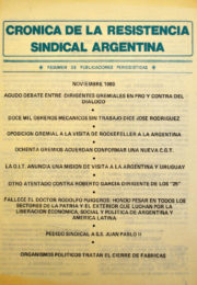 thumbnail of Cronica Resistencia Sindical. 1980 noviembre. Mexico