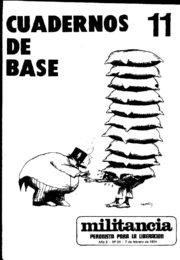 thumbnail of Cuadernos de Base n 11