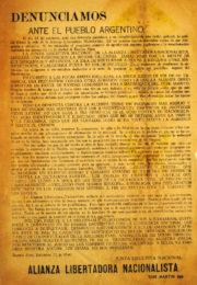 thumbnail of Denunciamos ante el pueblo argentino