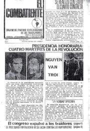 thumbnail of El Combatiente n 001 1968 marzo 6