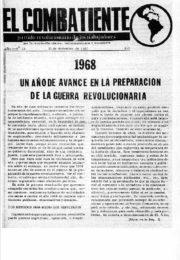 thumbnail of El Combatiente n 023 1968 diciembre 31