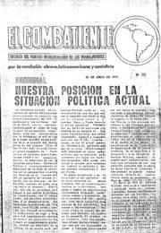 thumbnail of El Combatiente n 070 1972 julio 30