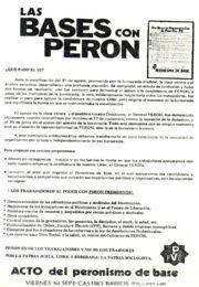 thumbnail of Las bases con Peron, 1973 septiembre 14