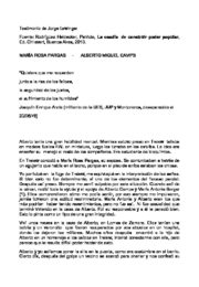 thumbnail of Rodriguez Heidecker, Patricia. Testimonio sobre M. R. Pargas y A. Camps