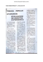 thumbnail of Uturunco. Evaluacion historica