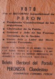 thumbnail of Voto por el retorno incondicional de Peron