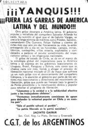 thumbnail of 1973. Yanquis. Fuera las garras de AL. CGTA