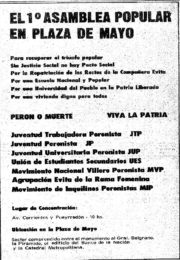 thumbnail of 1974 abril 30. El 1 Asamblea Popular en Plaza de Mayo