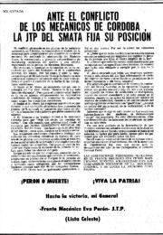 thumbnail of 1974 agosto 5. Ante el conflicto de los Mecanicos de Cordoba