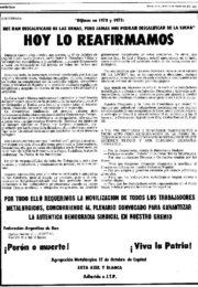 thumbnail of 1974 febrero 19. Agrupacion Metalurgica 17 de Octubre