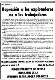 thumbnail of 1974 marzo 1. Represion a los explotadores no a los trabajadores