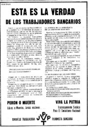 thumbnail of 1974 marzo 28. Esta es la verdad de los trabajadores bancarios