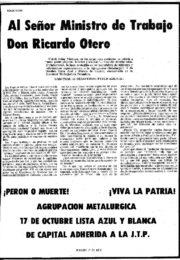 thumbnail of 1974 marzo 7. Agrupacion Metalurgica lista Azul y Blanca