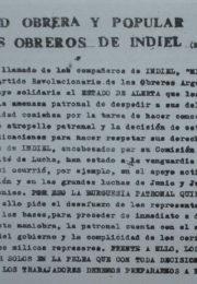 thumbnail of 1975. Solidaridad obrera y popular con los obreros de Indiel