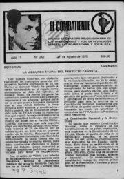 thumbnail of El Combatiente n 262 1978 agosto 21